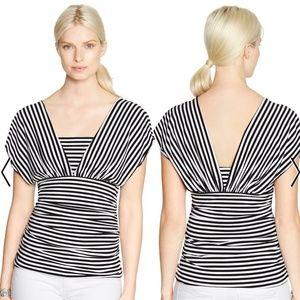 WHBM Sleeveless Stripe Genius Convertible Top